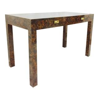 Vintage Mid-Century Modern Burl Parsons Desk