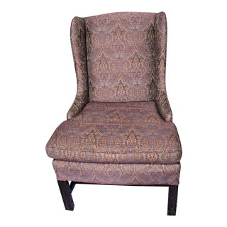 Vintage Purple Paisley Armchair For Sale