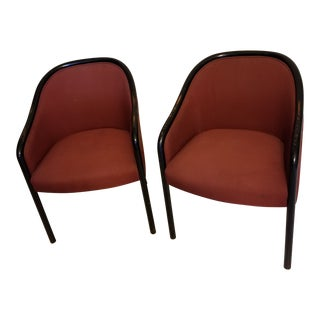 Vintage Mid Century Modern Ward Bennett Chairs- A Pair For Sale