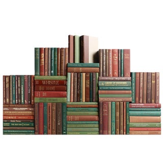 Modern Harvest Book Wall : Set of Seventy Five Decorative Books For Sale