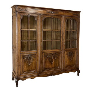 Antique Country French Bookcase ~ Bibliotheque For Sale