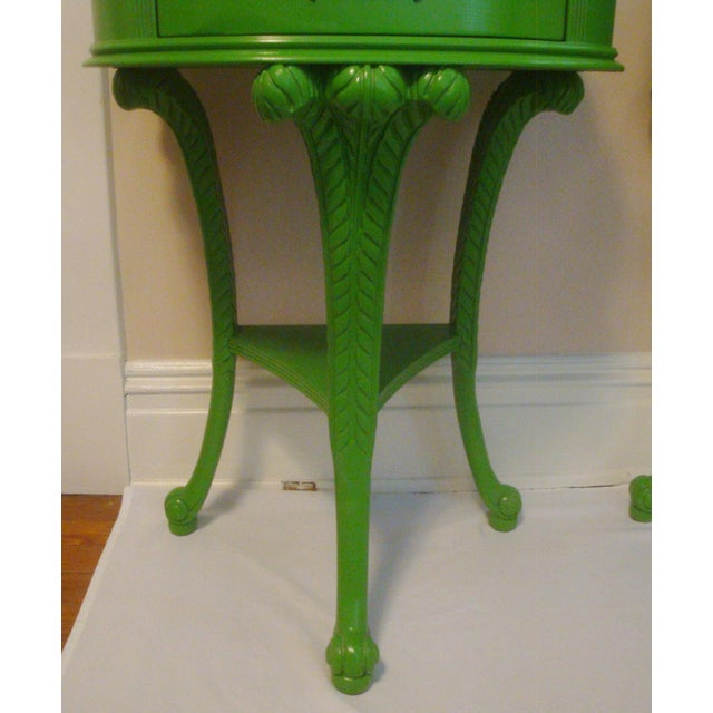 Pair Feather Plume Nightstands Side Tables Prince of Wales For Sale In Richmond - Image 6 of 11