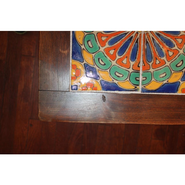 Vintage California Pottery Tile Side Table For Sale - Image 9 of 11