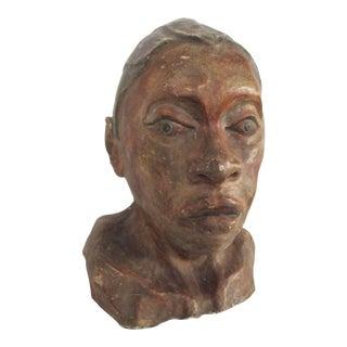 Plaster Polychromed Head For Sale