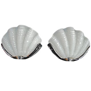 Art Deco Shell Sconces - a Pair For Sale