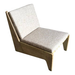 Architectural Modernist Slipper Chair For Sale