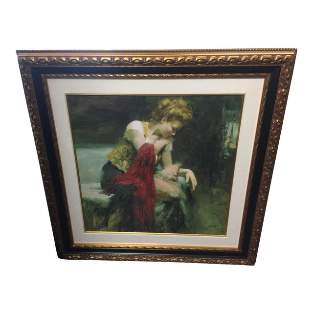 Pino Daeni Lithograph Contemplation Signed Limeted Edition For Sale