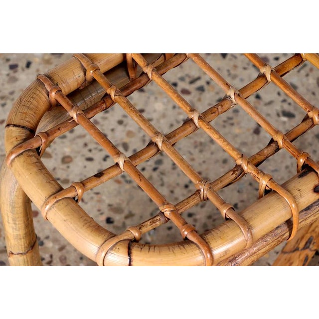 1950s 1950s Rattan Bench in the Style of Franco Albini For Sale - Image 5 of 8