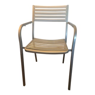 Emu Segno Steel Stacking Arm Chair For Sale