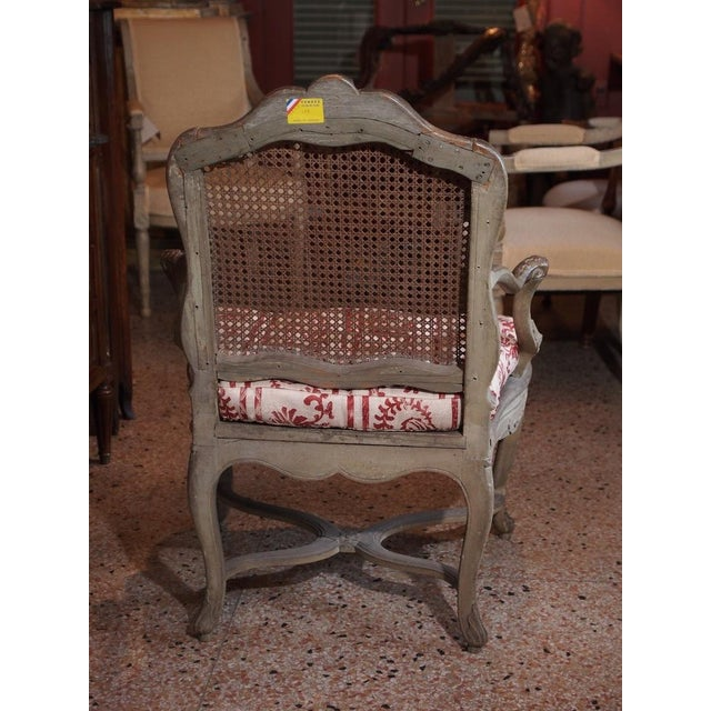 18th Century Painted Regence Chair For Sale - Image 4 of 8