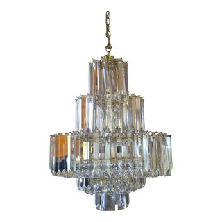 Vintage Wedding Cake Lucite Chandelier For Sale