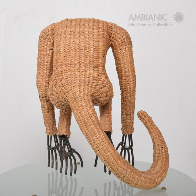 Mario Lopez Torres Wicker Monkey Sculpture - Image 5 of 10
