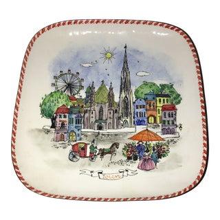 Enameled Austria Souvenir Plate For Sale