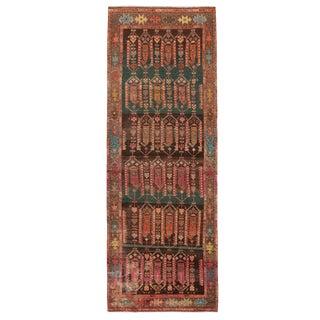 """Vintage Kazak Pink and Brown Wool Rug - 3'3"""" x 9'3"""" For Sale"""