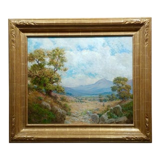 1900s William Lees Judson California Oaks Landscape Oil Painting For Sale