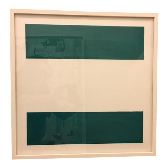 "Emerald Green ""Equal Signs"" Print - Image 1 of 3"