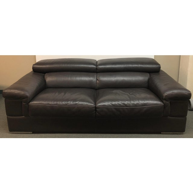 Incanto Group Divani Italian Leather Sofa | Chairish