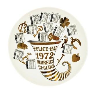 1970s Fornasetti Piatto Calendario Plate For Sale