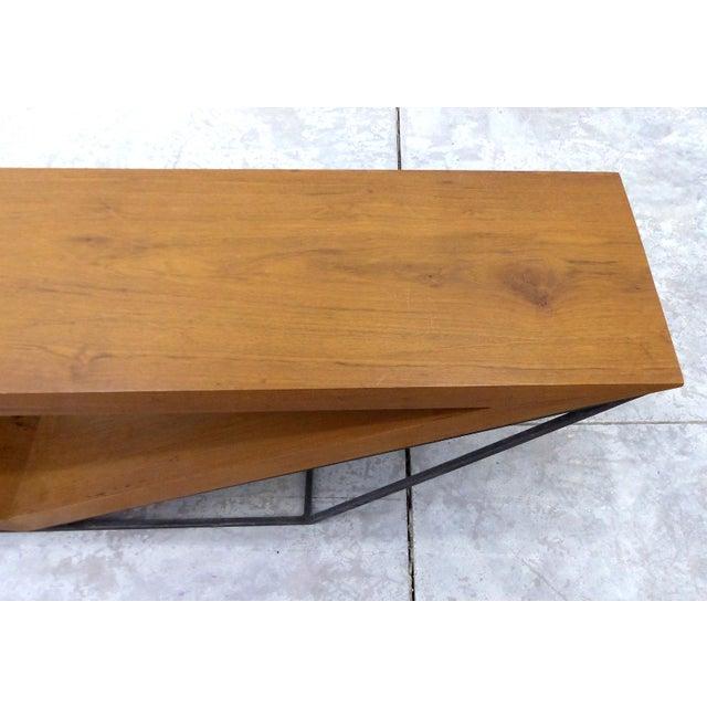Leonardo Bueno Brazilian Imbuia Wood Sculptural Bench - Image 5 of 8