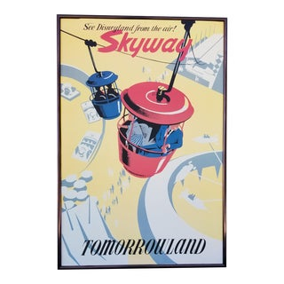 Disneyland Attraction Poster Skyway Tomorrowland For Sale