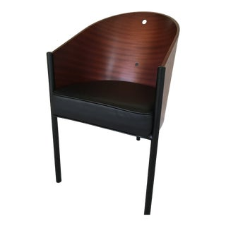 Modern Philippe Starck Costes Curved Mahogany Armchair For Sale
