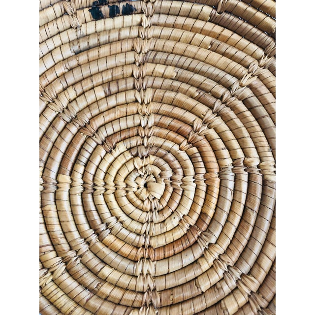Vintage Native American Tohono O'Odham Basket Tray With Bird Motif For Sale - Image 4 of 7