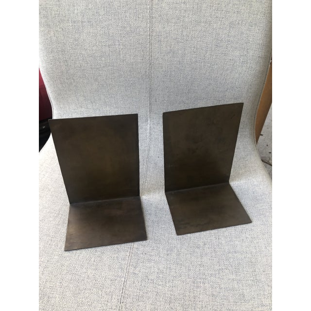 Arts & Crafts German Modernist Copper Bookends - a Pair For Sale - Image 3 of 10