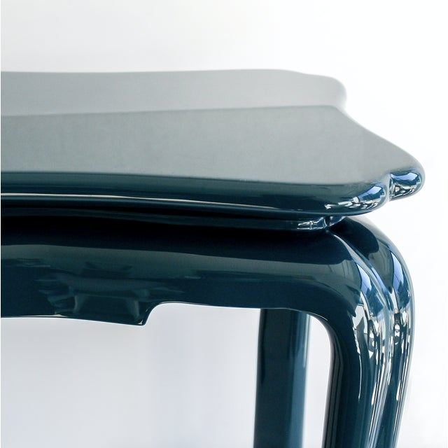 Handmade high gloss lacquer side table Designed by Suzanne Rheinstein for The Lacquer Company Dimensions W38cm x D32cm x...