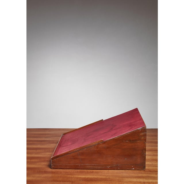 Mid-Century Modern Pierre Jeanneret Teak and Leather Reading Stand From Chandigarh For Sale - Image 3 of 5