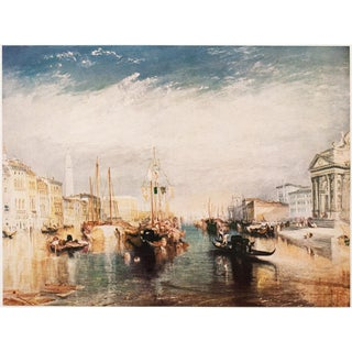"""1950s Joseph W. Turner """"Venice"""" First Edition Lithograph For Sale"""