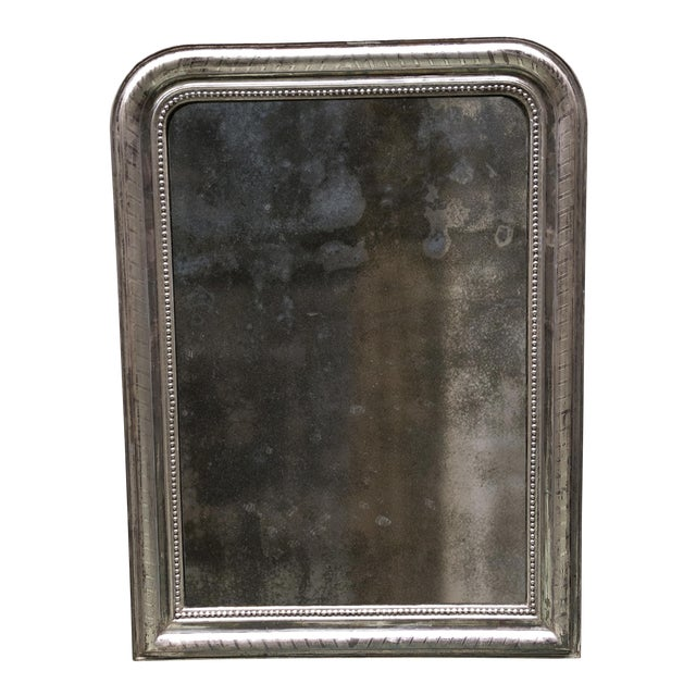 Early 19th Century 19th Century Silver Leaf Gilded Mirror For Sale - Image 5 of 7
