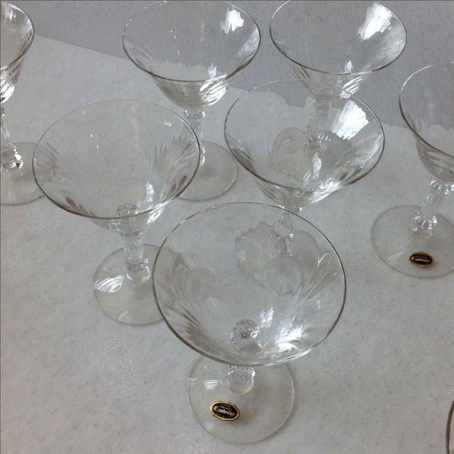 Transparent Cambridge Optic Crystal Cocktail Stemware For Sale - Image 8 of 11