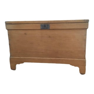 Antique Danish Pine Blanket Chest For Sale