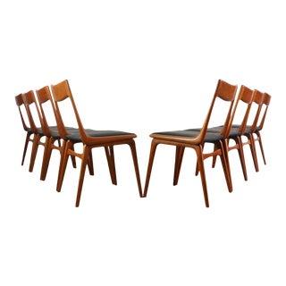 Erik Christensen Teak Boomerang Dining Chairs - Set of 8 For Sale