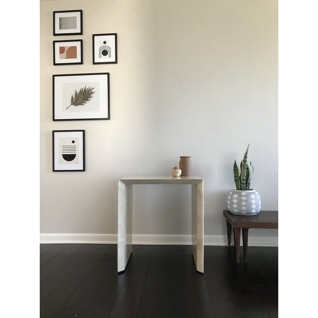 Modern Made Goods Sleek Faux Horn Side Table For Sale - Image 10 of 13