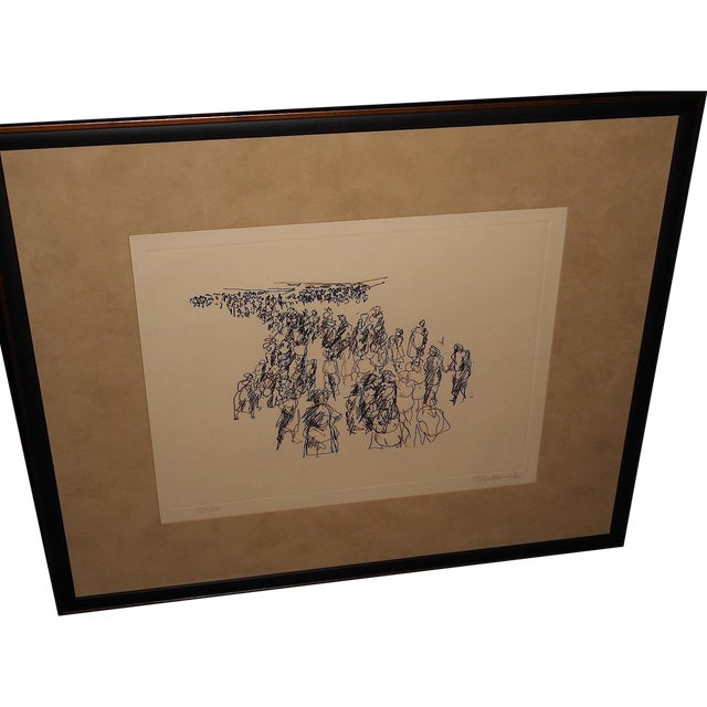 Paul Chidlaw Vintage Abstract Expressionist Print - Image 1 of 7