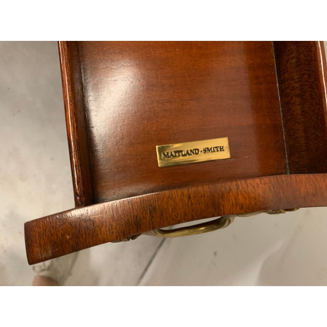 Maitland-Smith Tooled Leather Game Table For Sale In Atlanta - Image 6 of 8