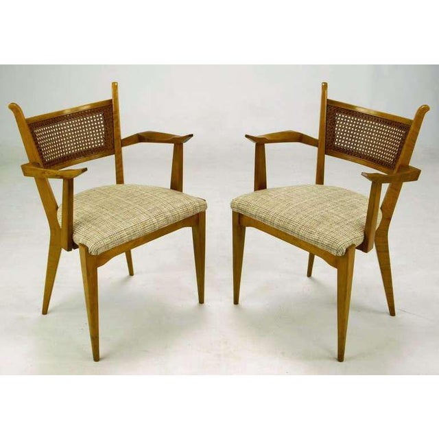 Set of six birch dining chairs by Edmond J. Spence, made in Sweden for Walpole Furniture. set of two armchairs and four...