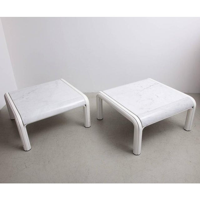 Italian Rare Pair of Marble Coffee or Sofa Tables by Gae Aulenti for Knoll, Italy, 1970s For Sale - Image 3 of 7