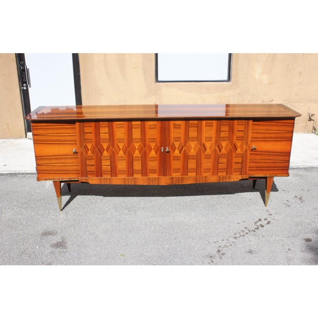 Art Deco 1940s Art Deco Exotic Macassar Ebony Sideboard / Buffet For Sale - Image 3 of 13