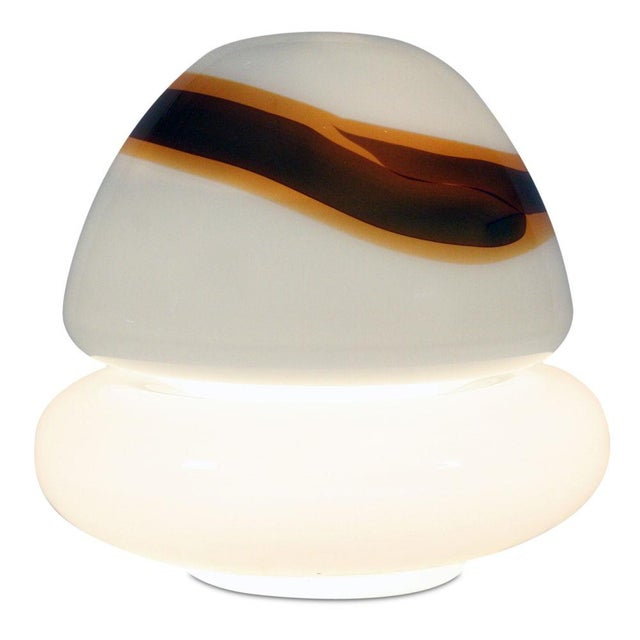 1960s Vistosi Hand-Blown Murano Glass 'Mushroom' Floor Lamp For Sale - Image 5 of 6