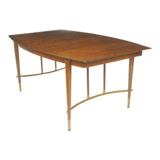 Bert England Walnut & Brass Dining Table For Sale