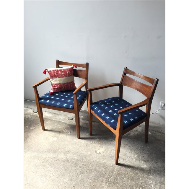 Walnut Mid-Century Dining Chairs - A Pair - Image 5 of 6