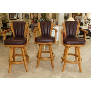 Mikhail Darafeev Leather Barstools - Set of 3 Preview