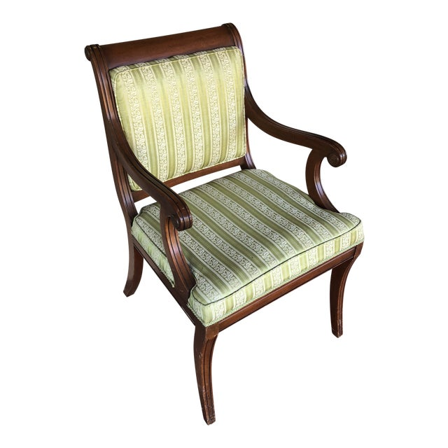 Vintge Traditional Wooden Accent Chair For Sale