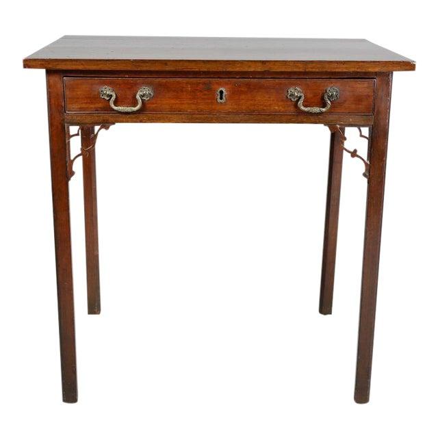 George III Mahogany Side Table For Sale