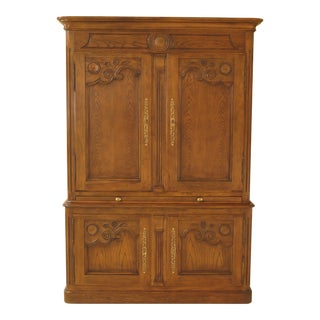 Baker Country French Lighted Bar Wardrobe Cabinet For Sale