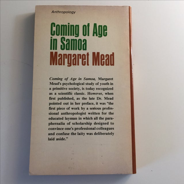 Traditional Coming of Age in Samoa, Margaret Mead 1973 For Sale - Image 3 of 5