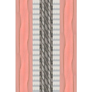 Palm Peach Stripe Large Wallpaper For Sale