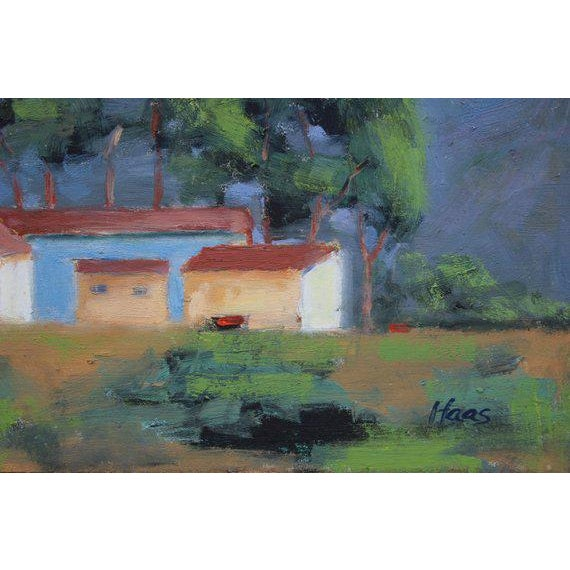 I painted this plein air piece at Meeker Slough in Richmond, CA. It's rendered in oil on masonite panel and is unframed.